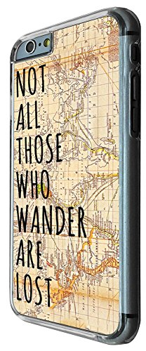 441 - Vitage Wordl Map Not all Those Wonder Are Lost Design iphone 6 6S 4.7'' Coque Fashion Trend Case Coque Protection Cover plastique et métal