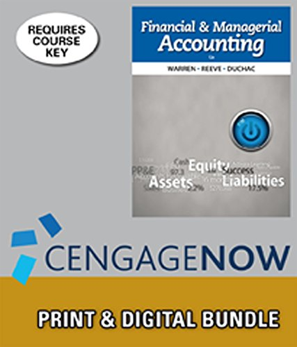 Bundle: Financial & Managerial Accounting, 12th + CengageNOW™, 2 terms Access Code