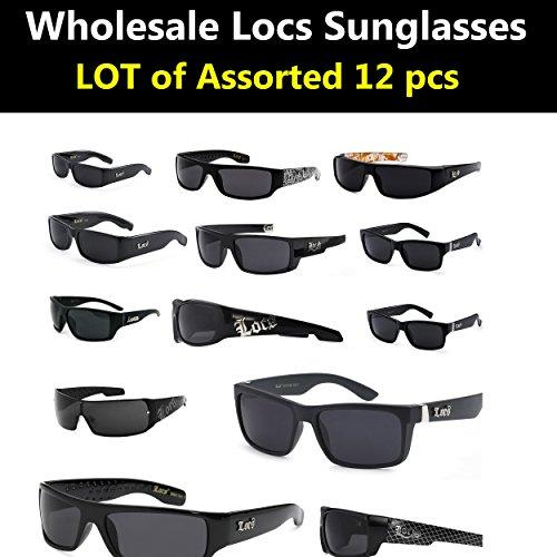 Locs Sunglasses Wholesale Bulk Lot Of 12 ASSORTED Styles Pre Selected styles( 12 - Locs Sunglasses Wholesale