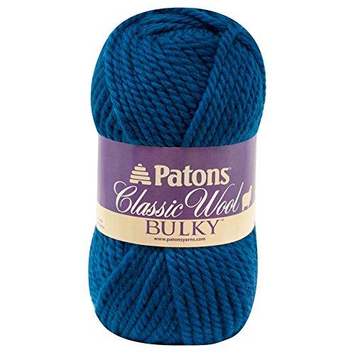 Patons Decor Wool - Patons  Classic Wool Bulky Yarn - (5) Bulky Gauge 100% Wool - 3.5oz -  Mallard Teal -   For Crochet, Knitting & Crafting