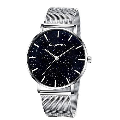 Women's Mens Watch, Thing-ning Ladies Watch Starry Sky Diamond Dial Women Bracelet Watches Magnetic Stainless Fashion Simple Style Casual Watches Gifts (G)