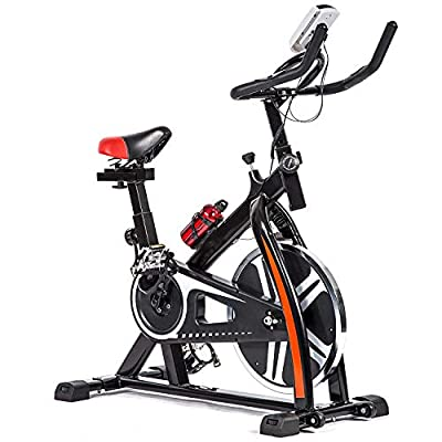 FDW Cycling Bike Exercise Bike Indoor Cycling Spin Bike Bicycle Cardio Fitness Cycle Trainer Heart Pulse w/LED Display Exercise Bikes Stationary Indoor