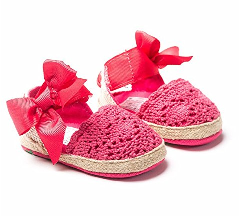 New Fashion Sweet Newborn Baby Girls Spring Summer Style Prewalker Princess Shoes Knitting Bow Soft Soled Shoes 0-1 Year (3, Hot (Hipster Disney Princess Halloween)