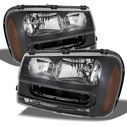 For Chevy Trailblazer Black OE Replacement Headlights Driver/Passenger Head Lamps Pair - Chevy Trailblazer Headlamp Headlight