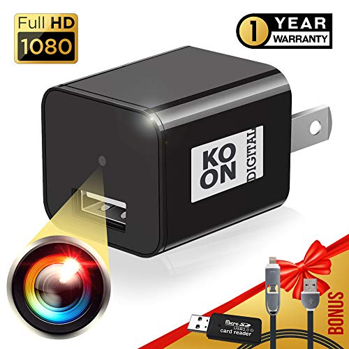 Spy Camera Charger - Hidden Camera - USB Charger Camera - Premium Pack - Mini Spy Camera 1080p - Hidden Nanny Cam - Surveillance Camera Full HD - Hidden Spy Cam - Hidden Cam - non WiFi