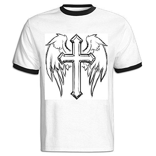 JACKJOM Prayer, Religion, Spirituality, Things, Wings Hit Color Tshirts For Men