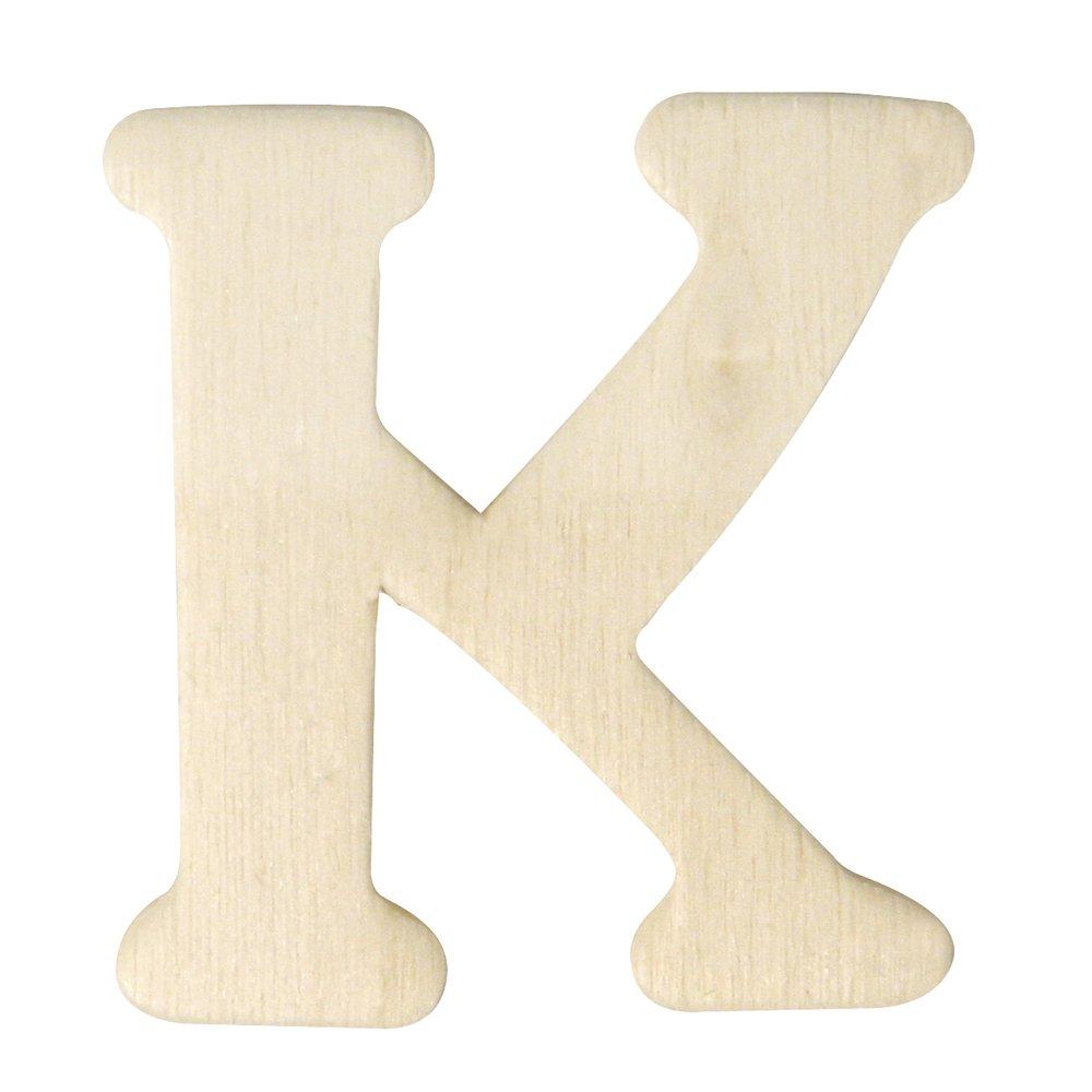 Rayher 6161000 Holz-Buchstaben 4 cm K