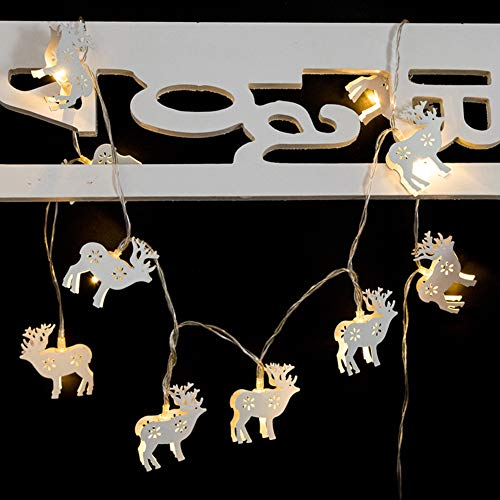 880 Elk - Kekailu LED Xmas Reindeer Elk Fairy Light Holiday Party Home Lantern Lamp Decor - White
