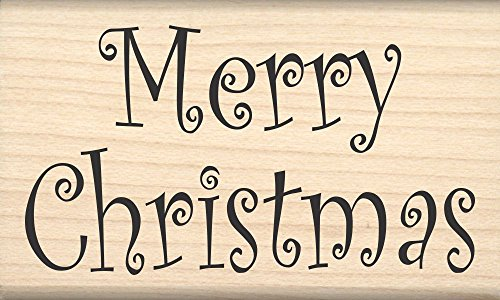 Stamps by Impression ST 0704 Merry Christmas Rubber Stamp (Stamps Rubber Christmas Cards)
