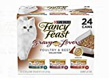 Purina Fancy Feast Gravy Lovers Wet Cat Food – (24) 3 oz. Cans (2-Pack (3 oz, 24 cans))