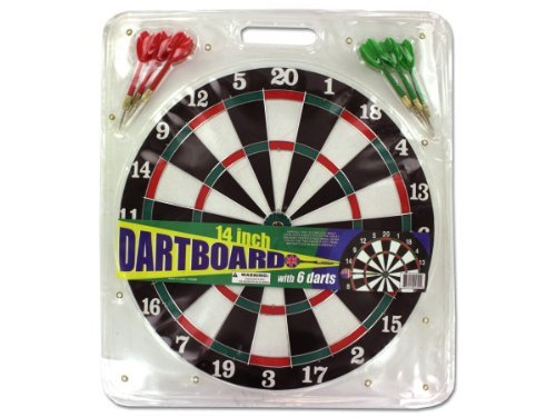 Dartboard with Metal Tip Darts Kids Children by bulk buys