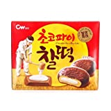 CWFOOD Choco Pie CHAL-TTEOK 280g Pack of 14 pieces of individually packed pies per box (Mochi Choco)
