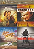 Four Feature Films: Bull Durham / Hoosiers / The Jackie Robinson Story / Raging Bull
