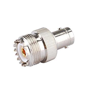 PC-Case 2pcs RF Cable eléctrico Terminal Conector de aleación de cobre BNC-UHF