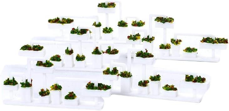 Toygogo 5X Estantes de Flores de Pérgola Sostedor de Maceta de Flores en Miniatua Decoración de Jardín de Hadas para Dollhouse - 1: 100: Juguetes y juegos - Amazon.es