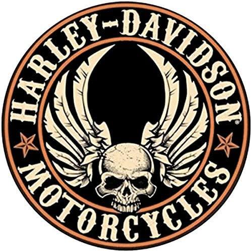 Retro Reflective Helmet Stickers for Harley Davidson Central Skull Helmet