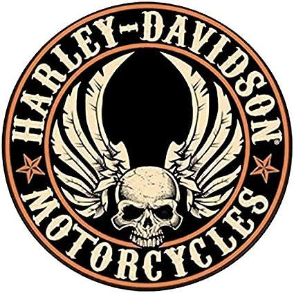 Retrolo Sticker Für Helm Harley Davidson Central Skull Auto