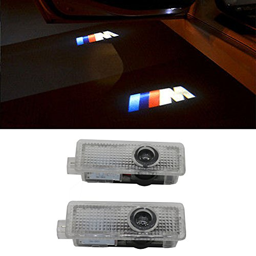 (Grolish 2 Piece Car Door LED Lighting Welcome Lights Shadow Projector for BMW )