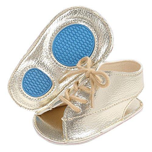 Sandalias De Bebe,BOBORA Prewalker Zapatos Primeros Pasos Para Bebe Sandalias De La Correa De La Boca De Pescados Ocasionales Del Bebe oro