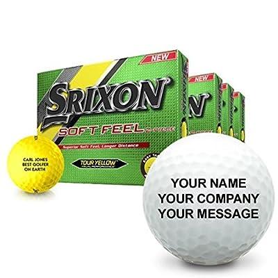 Srixon Soft Feel Yellow Personalized Golf Balls - Buy 3 DZ Get 1 Free