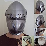 14th / 15th Century Bascinet Helmet With Visor