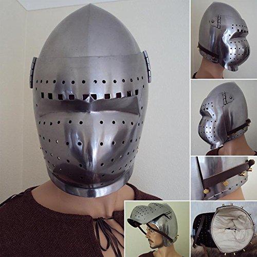 NAUTICALMART 14th / 15th Century Bascinet Helmet with Visor ()