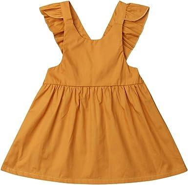 Vestido de Princesa sin Mangas para niña o niña, de algodón, con ...