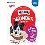 Milk-Bone Wonder Bones Paw Rockers with Real Beef, Long Lasting Dog Treats, Small-Medium, 18.8 oz Pouch