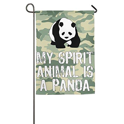 My Spirit Animal Is A Panda-3 Garden Flag | Two Sizes - 12 X 18Inch & 18 X 27Inch