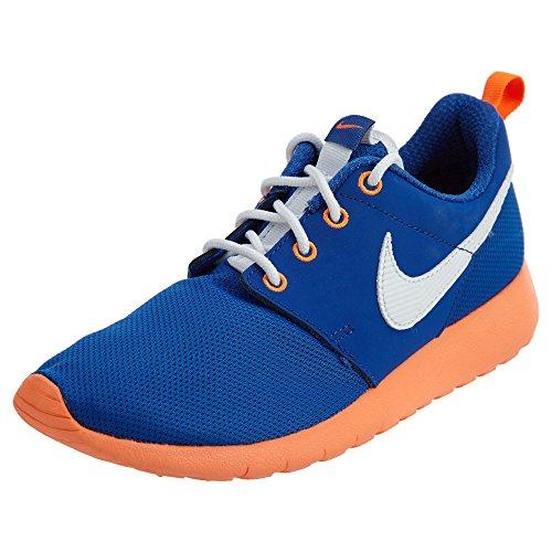 (Nike Kids Roshe One (GS) Game Royal/White/Ttl Orange/Blk Running Shoe 6.5 Kids)