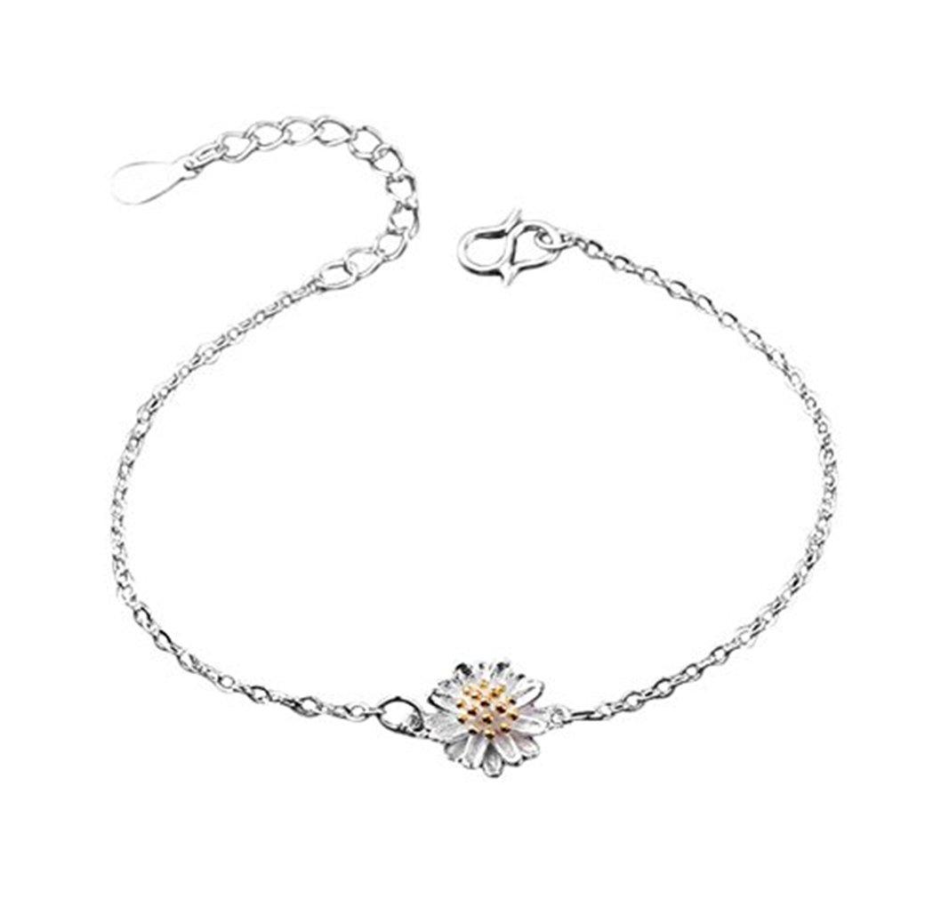 Dosige Bracelets Femme Bracelet de Bijoux Bracelet de Charme Chaîne à Main - Fleur