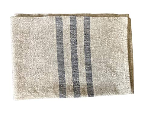 Hope Woodworking Cotton, Woven Throw Blanket, Cream with Navy Stripe, 52''x80'', Ruby Stripe Pattern, American Made by Hope Woodworking (Image #5)