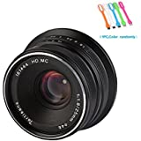 7artisans 25mm F1.8 Large Aperture Manual Focus Prime Fixed Lens For Canon EOS-M Mount Cameras M1,M2,M3,M5,M6,M10,M100- Black (25mm F1.8 Canon EOS-M Mount)