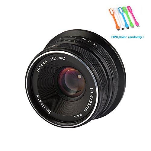 7artisans 25mm F1.8 Large Aperture Manual Focus Prime Fixed Lens For Canon EOS-M Mount Cameras M1,M2,M3,M5,M6,M10,M100- Black (25mm F1.8 Canon EOS-M Mount)
