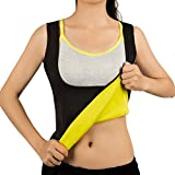 Women Hot Sweat Vest Neoprene Sauna Vest for Weight Loss Tummy Fat Burner Slimming Shapewear Hot Thermo Body Shaper Sweat Tank Top Black No Zip XL