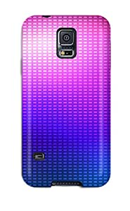 New Style Tpu Case Cover Compatible For Galaxy S5/ Hot Case/ Purple Turquoise 6634170K46151559
