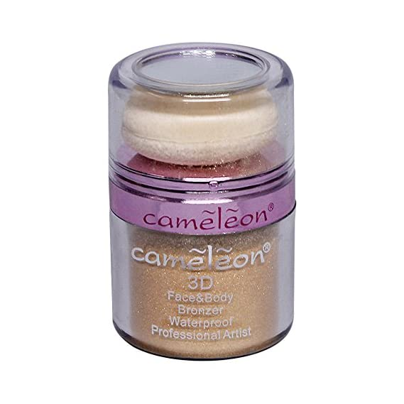 Cameleon 3D Face and Body Waterproof Bronzer, 10g (Golden)