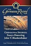 img - for Germanna Studies: Essays Honoring John V. Blankenbaker: Germanna Record 20 (Volume 20) book / textbook / text book
