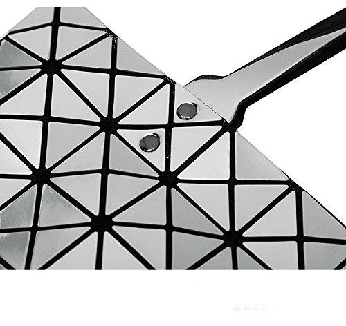 Borse Sacchetto Delle Scuro Del Crossbody Blu Pieghevole Geometrica Donne Spalla Plaid Oro Casual Donna Frizione Tote Messaggero qAUXttg