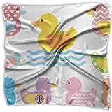 Colorful Duck Swim Women's Square Scarf Headdress Fashion Neckerchief