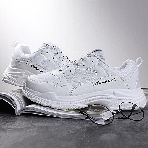 Gym Hommes Madaleno Causal Lacets Sneakers Athletic Blanc Trainers Course De Sports Chaussures Walk AqO61