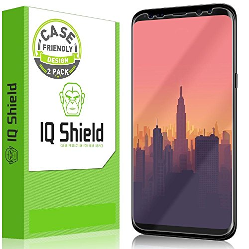 Galaxy S8 Plus Screen Protector, IQ Shield LiQuidSkin Full Coverage Screen Protector for Galaxy S8 Plus (2-Pack, Case Friendly Updated Version) HD Clear Anti-Bubble Film