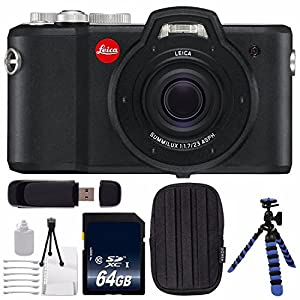 Leica X-U (Typ 113) Digital Camera + 64GB SDXC Class 10 Memory Card + Deluxe Cleaning Kit + SD Card USB Reader + Small Case + Flexible Tripod with Gripping Rubber Legs Bundle