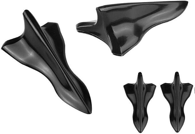 Mingdun Carbon EVO Style PP Roof Shark Fins Spoiler Wing Kit Vortex Generator 10PC