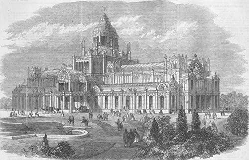 Países Bajos: El Palacio De La Industria en Amsterdam, envejecido, impresión 1861: Amazon.es: Hogar