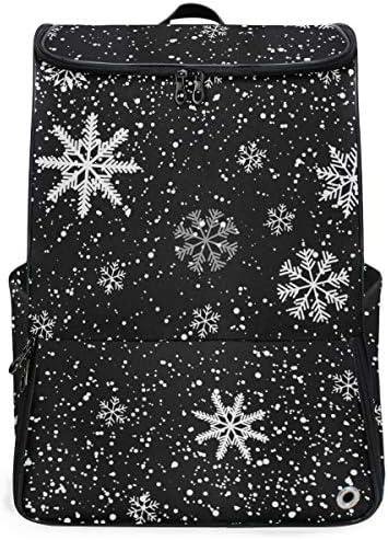 リュック メンズ レディース リュックサック 3way バックパック 大容量 ビジネス 多機能 クリスマス スノーフレーク スクエアリュック シューズポケット 防水 スポーツ 上下2層式 アウトドア旅行 耐衝撃