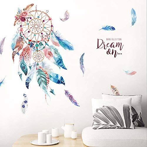 (iwallsticker Dreamcatcher Wall Stickers Classic Creative Dream Catcher Feather Art Decal Mural Home Room Decor)