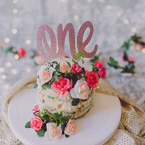 rose gold glitter wedding cake topper gold glitter one cake topper handmade 19276