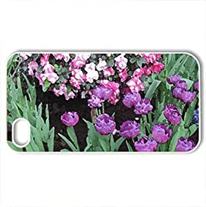 Tulips are spring-blooming 32 - Case Cover for iPhone 4 and 4s (Flowers Series, Watercolor style, White)