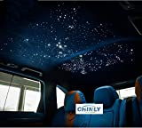 Car use 12W RGBW Remote Music Mode LED Fiber Optic Star Ceiling Kit, Mixed 450 Strands 9.8ft Long , 0.03in+0.04in+0.06in